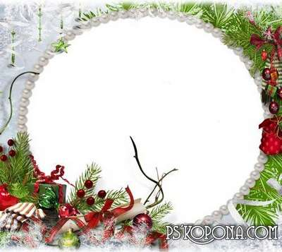Photo frame - Quietly in the air swirling butterfly-snowflakes