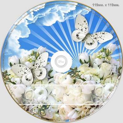 Wedding DVD cover template , DVD disk - Happiness You  abandon never