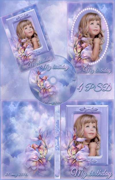 DVD cover template – My birthday