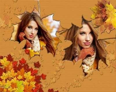 Frame for photo - Beautiful autumn