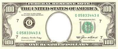 PSD Template 100 Dollars