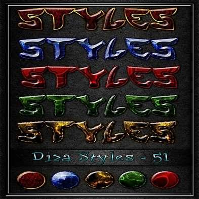 Free glitter Photoshop styles - 51