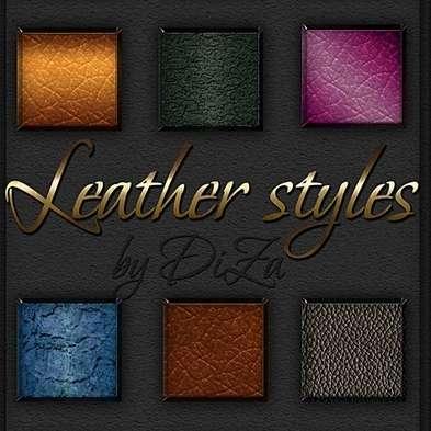 Leather photoshop Styles - 53
