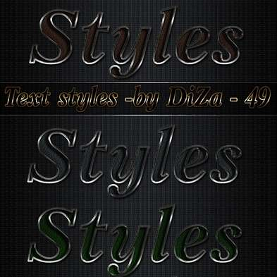 Text photoshop styles - 49