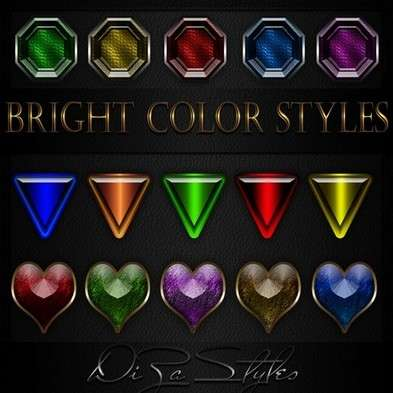 Bright color photoshop styles  ASL + PSD