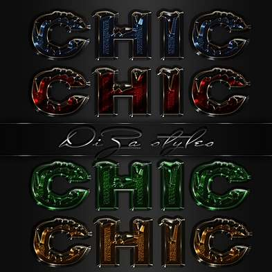 Chic shiny styles for Photoshop