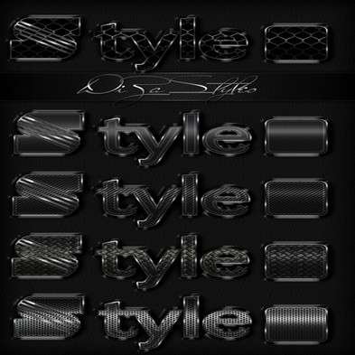 Dark Metal photoshop styles