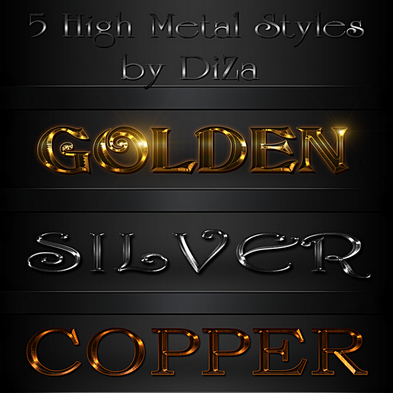 5 High metal photoshop styles