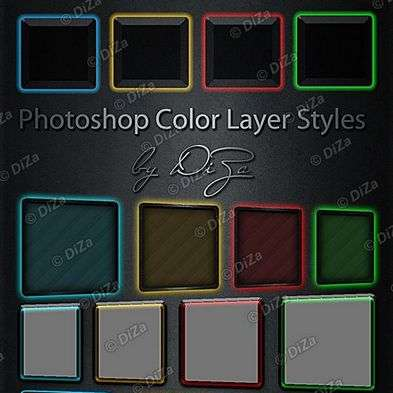 Photoshop Color Layer Styles