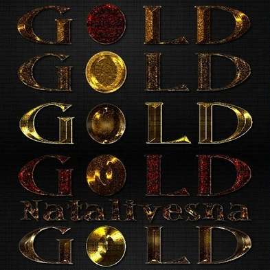Gold Photoshop Styles 3