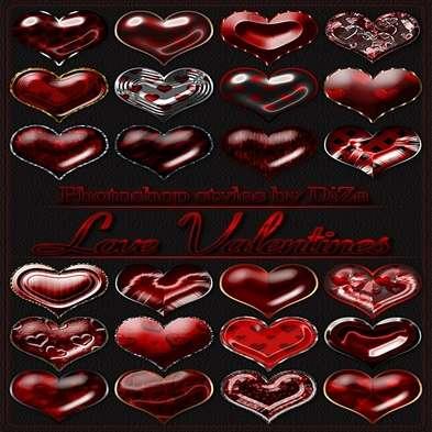 "Photoshop styles ""Love Valentines"""