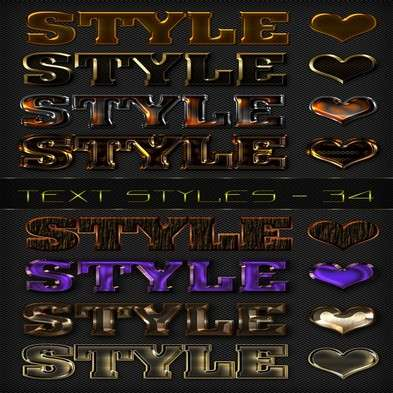 Text photoshop variety styles - 34