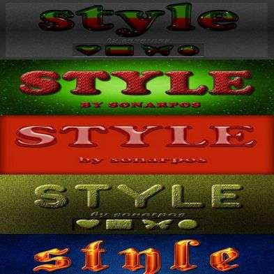 Set of the variety photoshop styles - 20