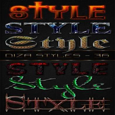 Text photoshop styles - 36