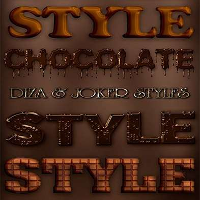 Chocolate photoshop styles