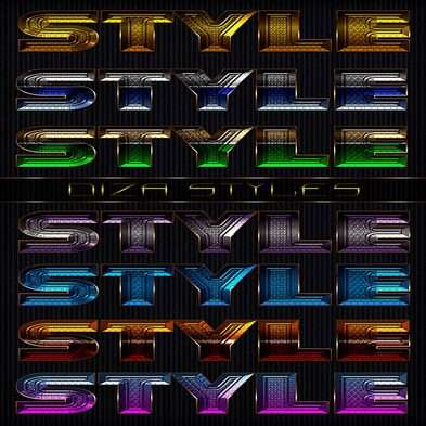 Text shiny photoshop styles by DiZa - 27
