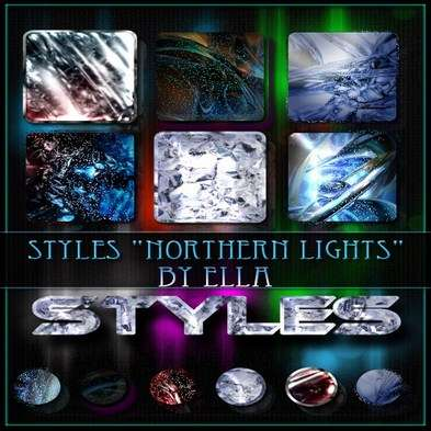"Original photoshop styles ""Northern Lights"" by ELLA"