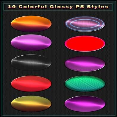 Colorful Glossy Photoshop Styles