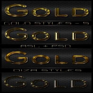 Gold photoshop styles - 5