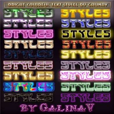 Bright Colorful Text Photoshop Styles
