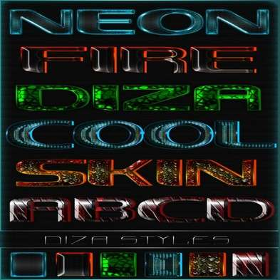 Text photoshop neon styles by DiZa - 22