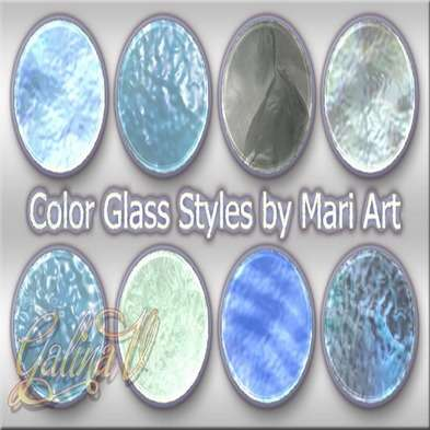 Blue Color Glass Styles for Photoshop