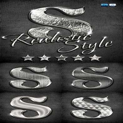 Styles for Photoshop metallic