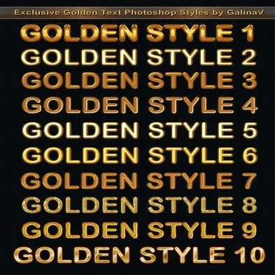 Exclusive Golden Text Photoshop Styles
