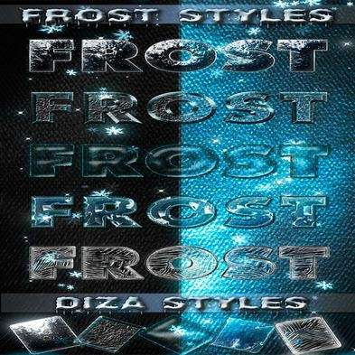 Frost photoshop styles