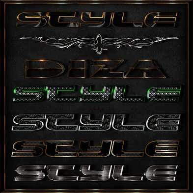 Text photoshop metal styles - 17