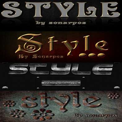 Set of the varied photoshop styles - 19