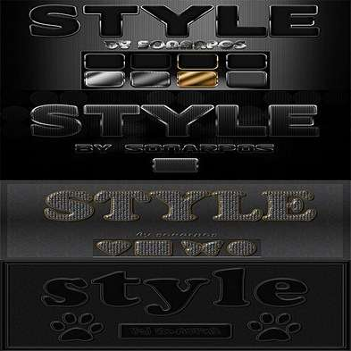 Set of the varied photoshop styles - 18