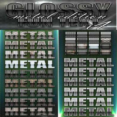 Genuine Glossy Metal Photoshop Style