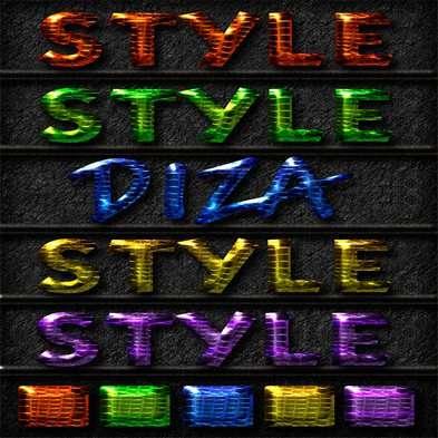 Text photoshop convex styles by Diza - 10