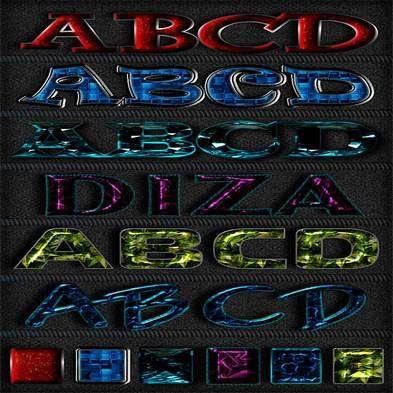 Text photoshop jewel styles by Diza - 11