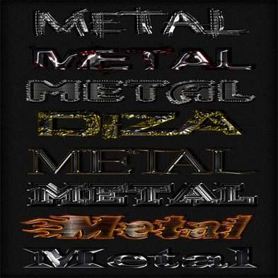 Metal photoshop styles by DiZa