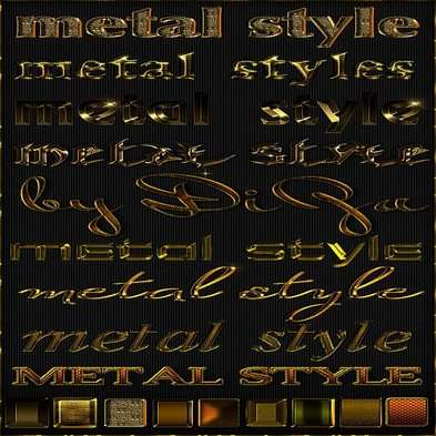 Gold photoshop styles - 4