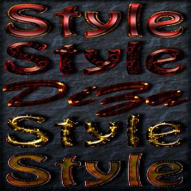 Text photoshop shiny styles by Diza - 8