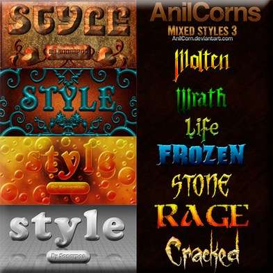 Set of the varied photoshop styles - 16