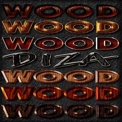 Wood photoshop styles by DiZa