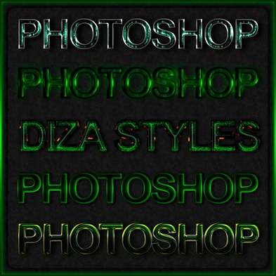 Green photoshop styles