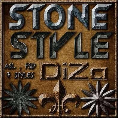 Stone photoshop styles