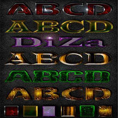 Text photoshop styles by Diza - 4