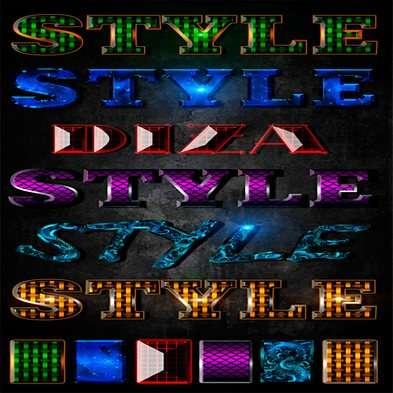 Text photoshop jewel styles by Diza - 5