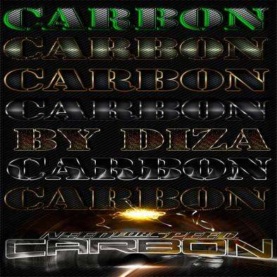 Carbon photoshop styles by Diza - 2