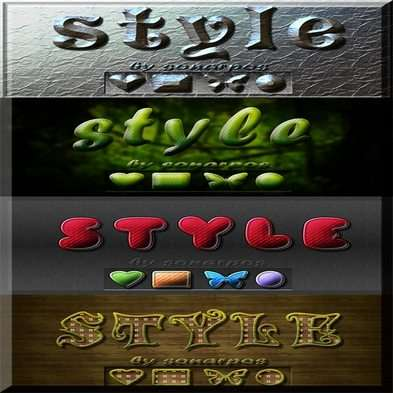 Set of the varied photoshop styles - 12