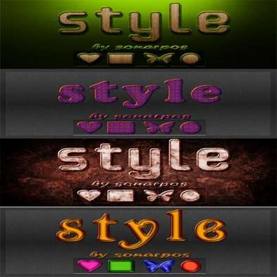 Set of the varied photoshop styles - 13