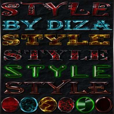 Text jewel photoshop styles by Diza - 6