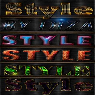 Text shiny photoshop styles by Diza - 7