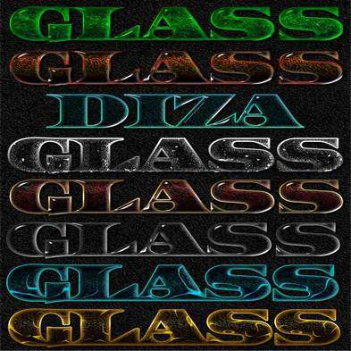 Glass photoshop styles by DiZa - 2